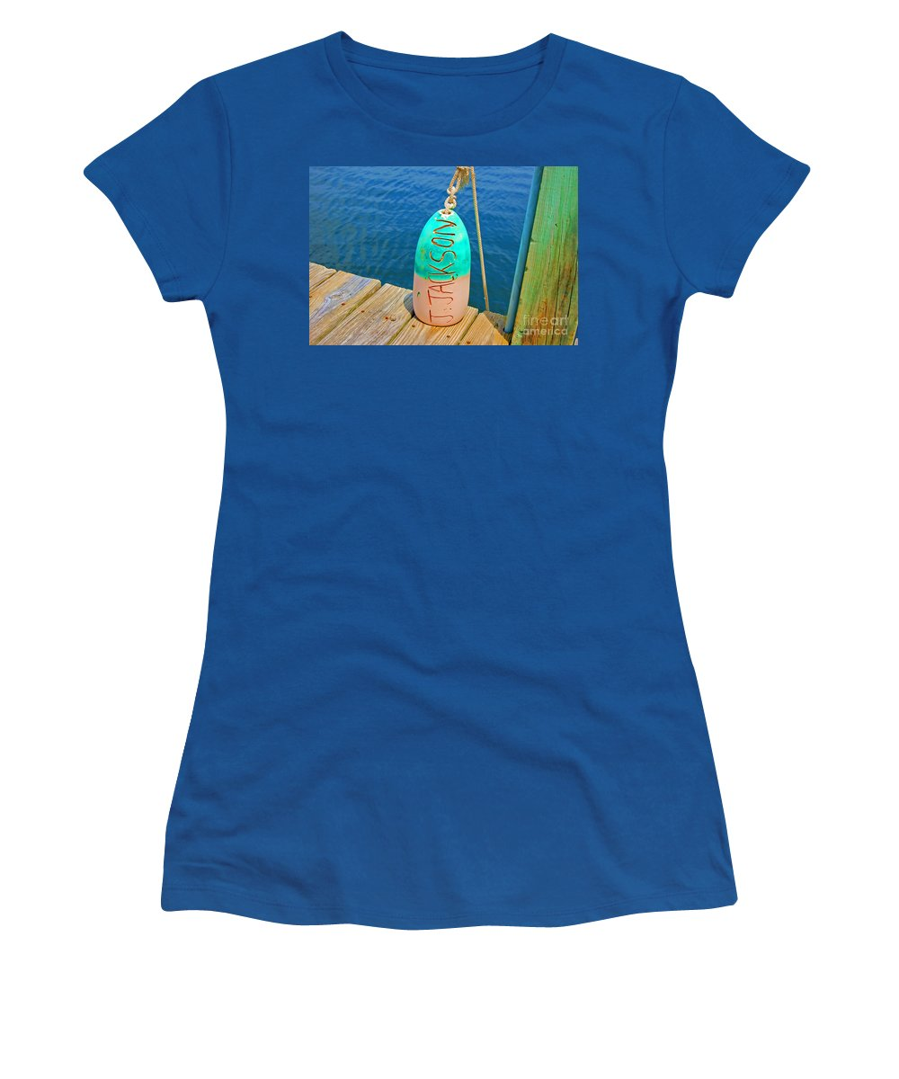 Water Women's T-Shirt (Athletic Fit) featuring the photograph Its A Buoy by Debbi Granruth