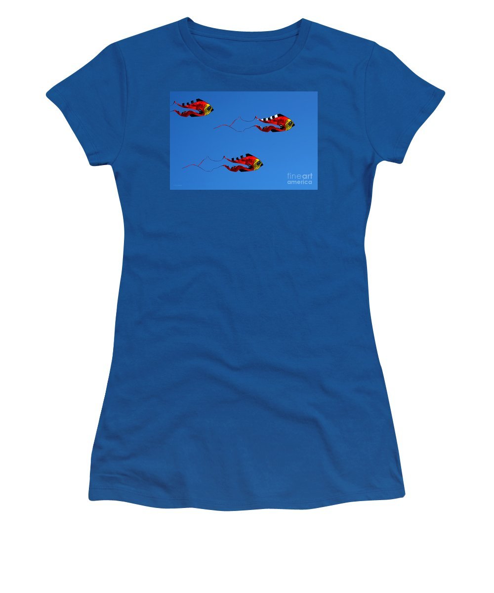 Clay Women's T-Shirt featuring the photograph It's A Kite Kind Of Day by Clayton Bruster