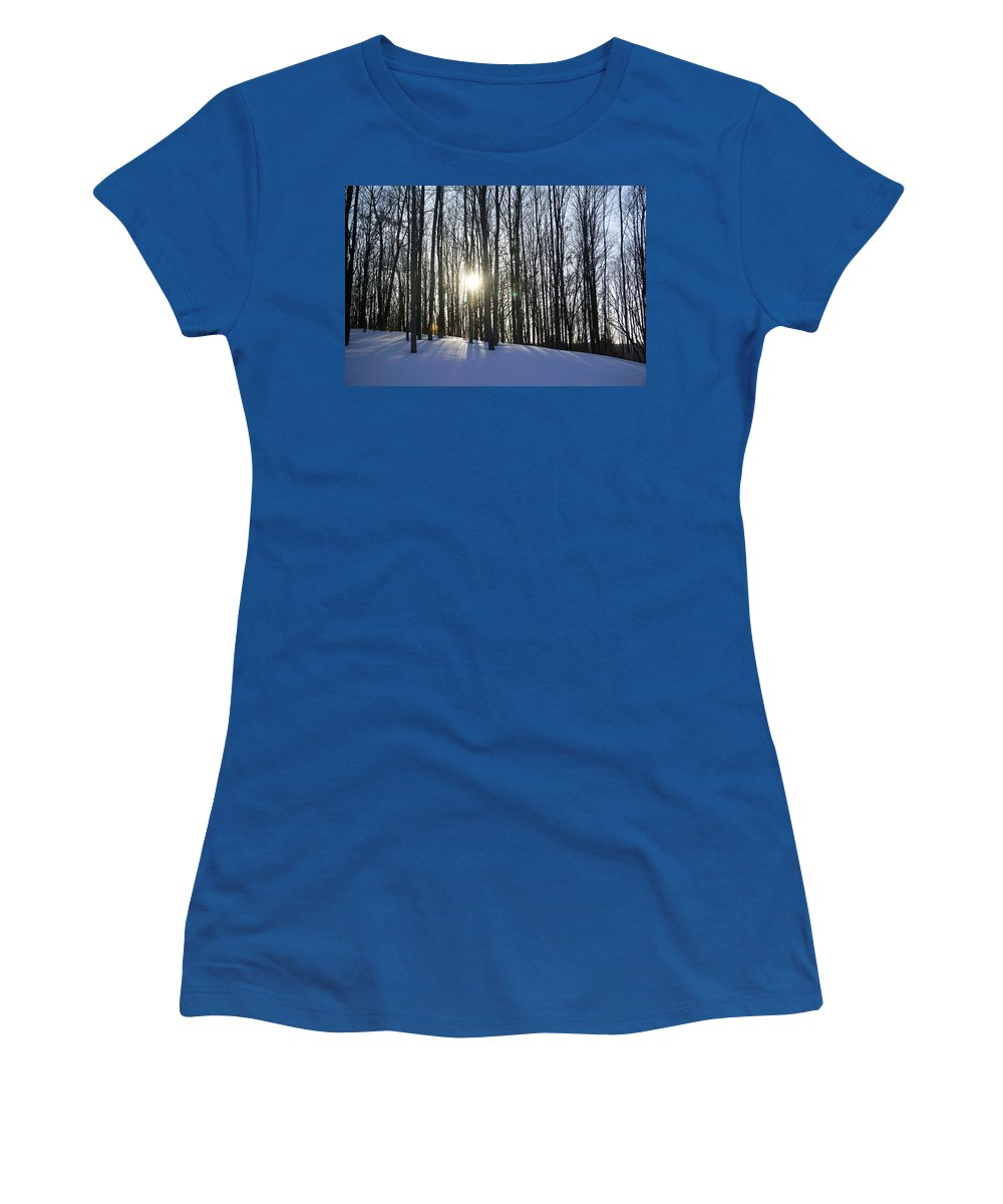 Snow Women's T-Shirt featuring the photograph Jesyca's View by Pablo Rosales