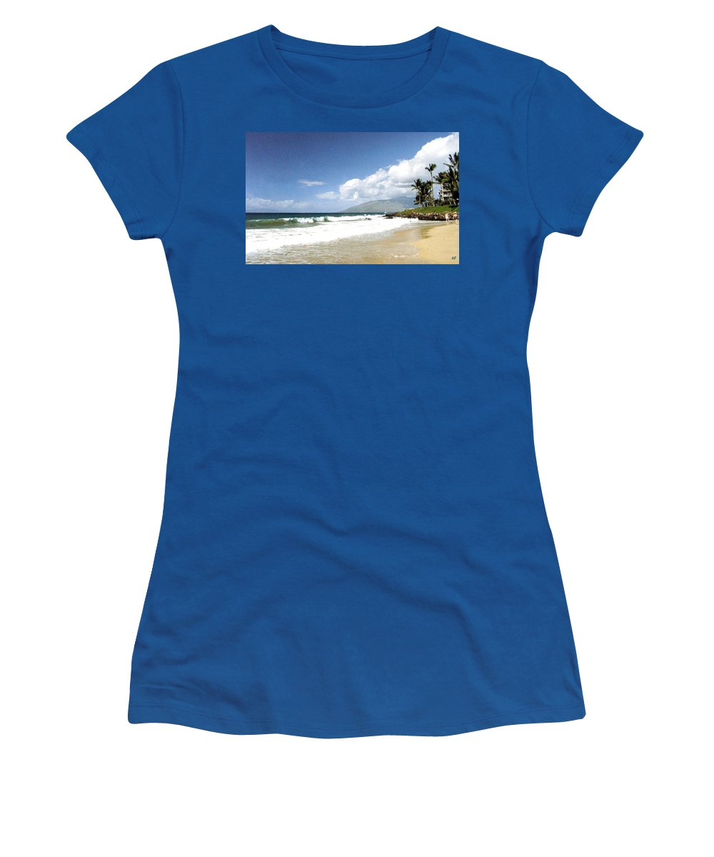 1986 Women's T-Shirt (Athletic Fit) featuring the photograph Kihei by Will Borden