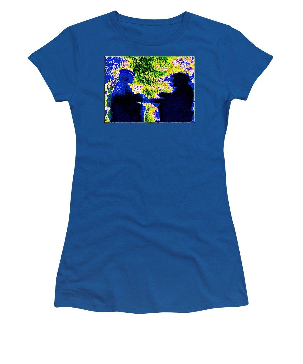 Abstract Women's T-Shirt featuring the digital art Lifelong Friends by Will Borden