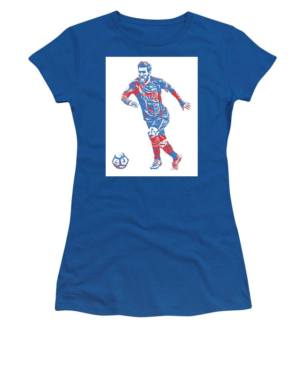 Lionel Messi F C Barcelona Argentina Pixel Art 1 Women s T-Shirt for Sale  by Joe Hamilton c818676d49