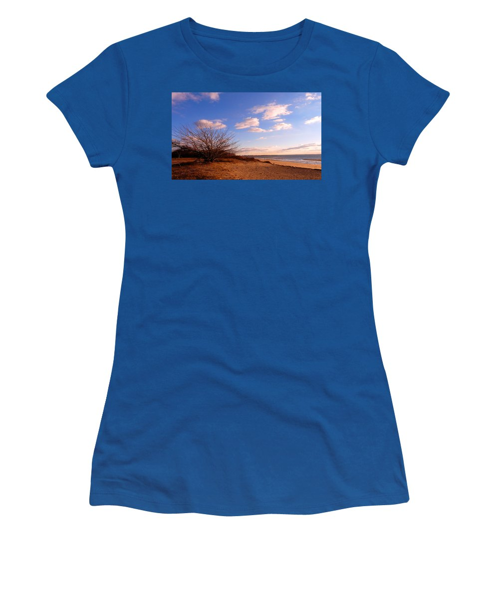Landscape Women's T-Shirt (Athletic Fit) featuring the photograph Listen To The Quiet by Kendall Eutemey
