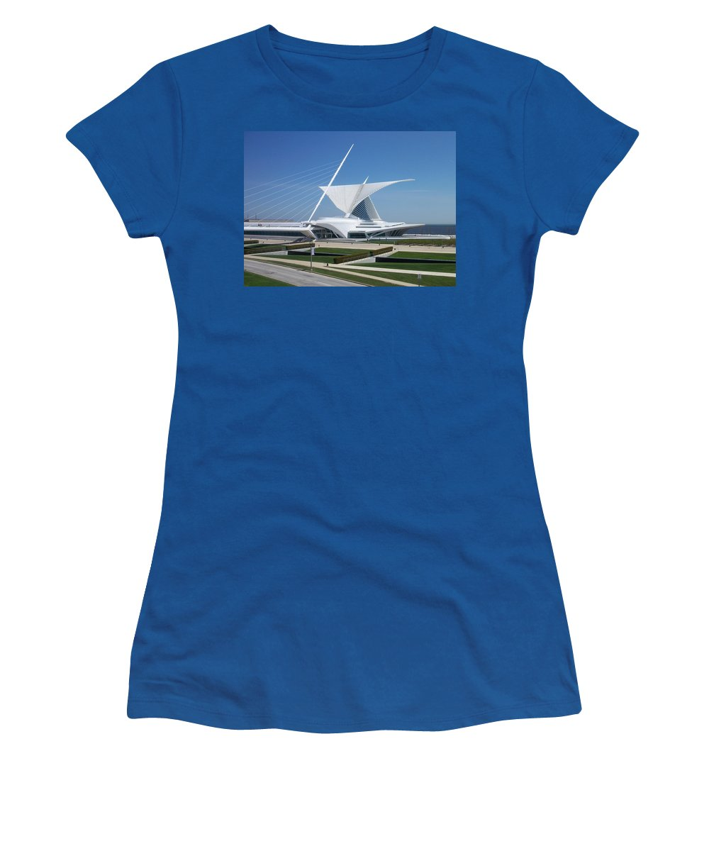 Mam Women's T-Shirt (Athletic Fit) featuring the photograph Mam Caltrava by Anita Burgermeister