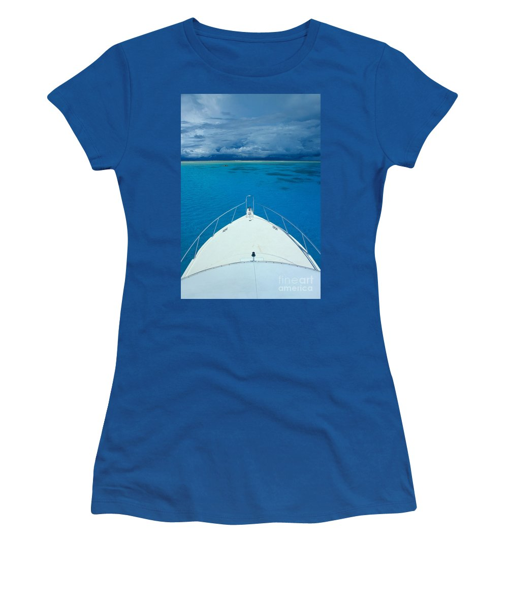 Afternoon Women's T-Shirt featuring the photograph Micronesia, Boat Bow by Rick Gaffney - Printscapes