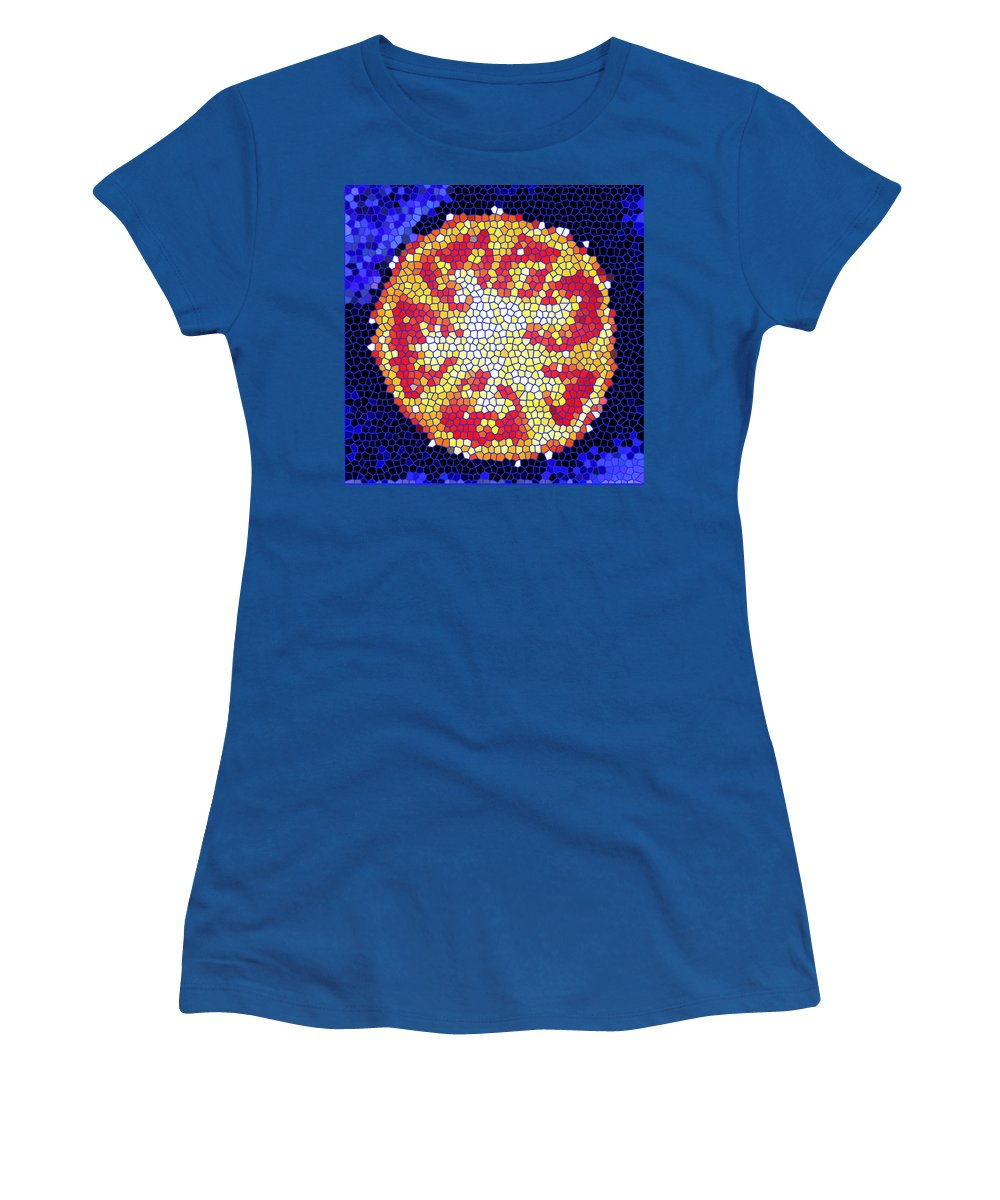 Tomato Women's T-Shirt (Athletic Fit) featuring the photograph Mosaic Tomato by Nancy Mueller