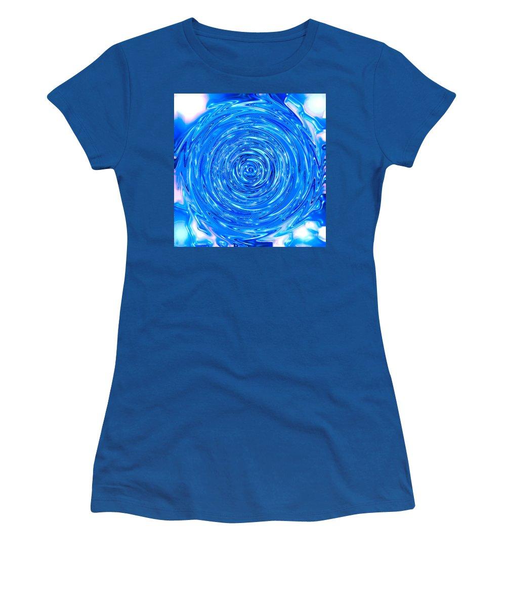 Moveonart! Digital Gallery Women's T-Shirt featuring the digital art Moveonart Peace Renewal Planet Earth by Jacob Kanduch