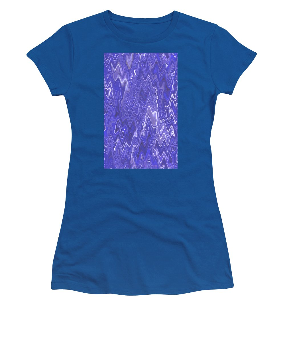 Moveonart! Digital Gallery Women's T-Shirt featuring the digital art Moveonart Peaceful Interactive Visual Therapy 2 by Jacob Kanduch