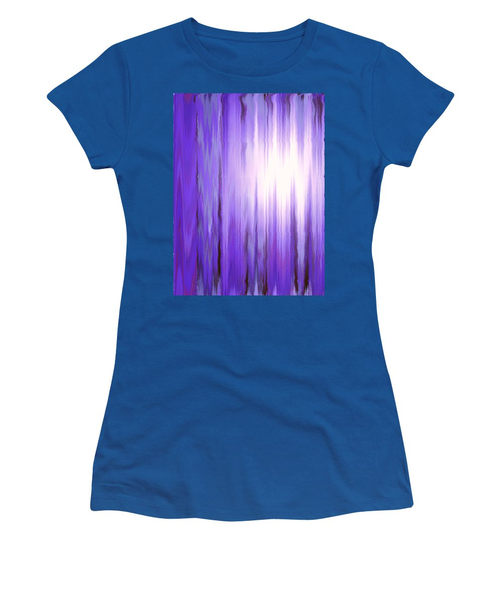 Moveonart Digital Gallery San Francisco California Lower Nob Hill Jacob Kane Kanduch Women's T-Shirt (Athletic Fit) featuring the digital art Moveonart Time 1 by Jacob Kanduch