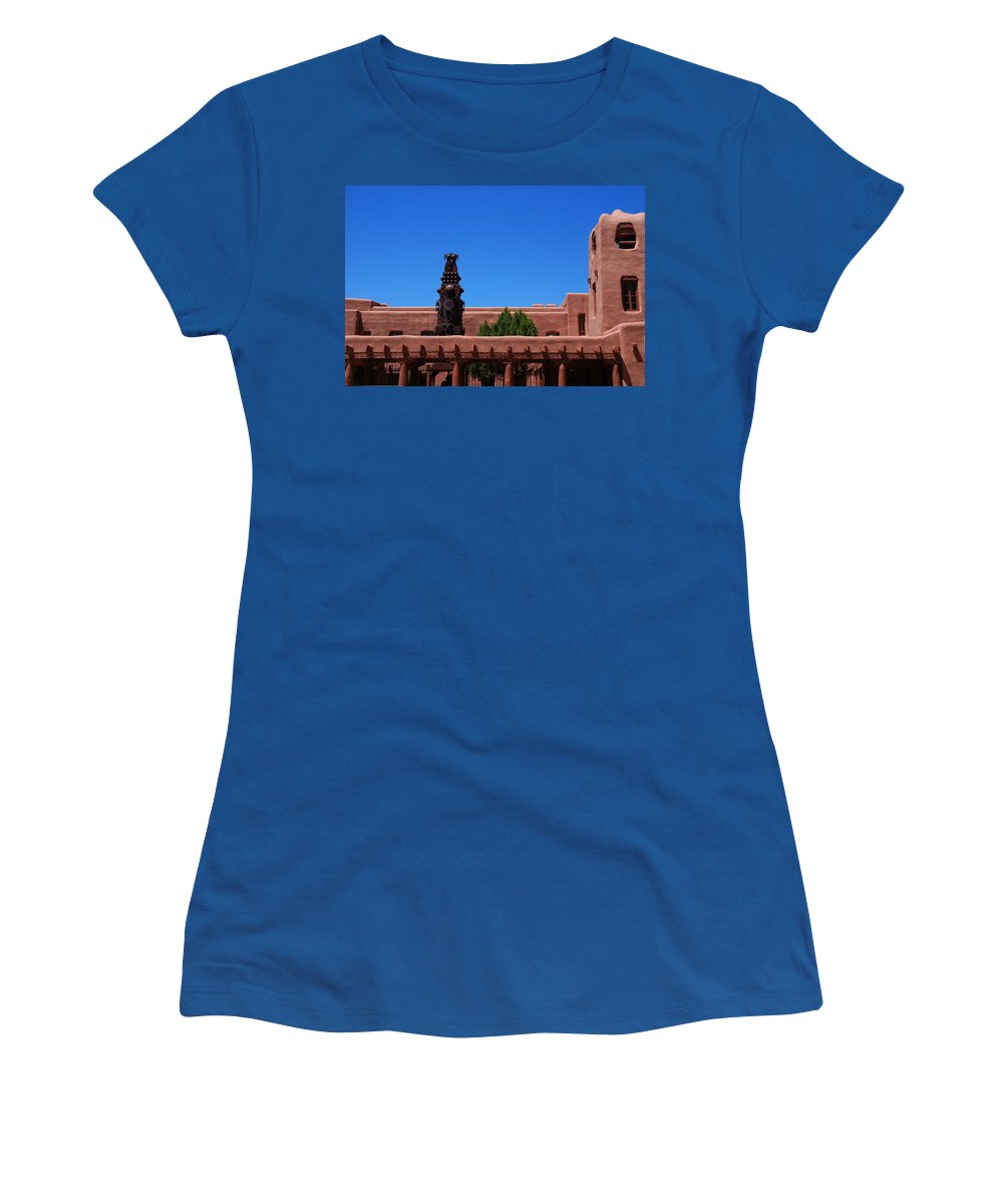 Museum Women's T-Shirt featuring the photograph Museum Of Indian Arts And Culture Santa Fe by Susanne Van Hulst