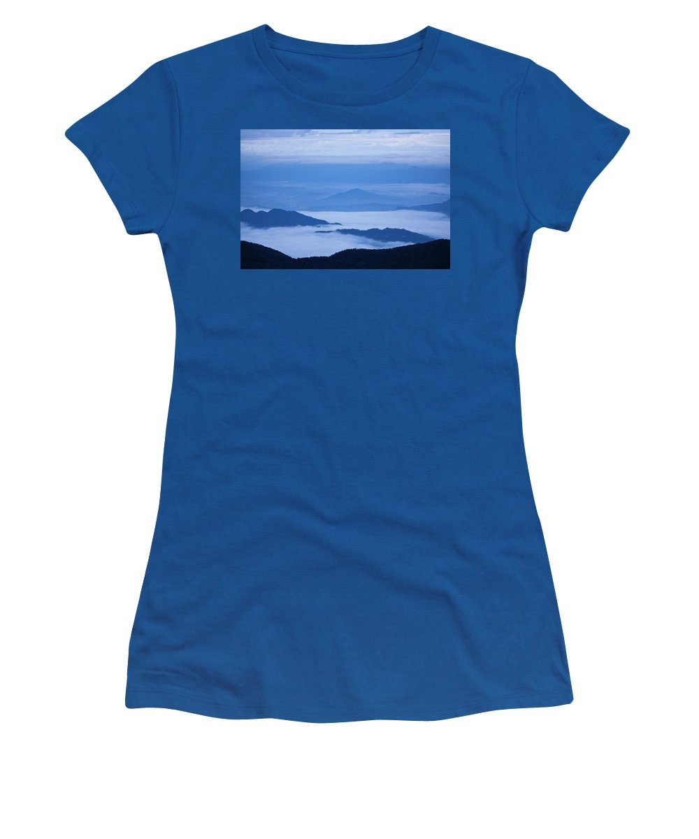 View Women's T-Shirt featuring the photograph Mystique by Andrew Paranavitana
