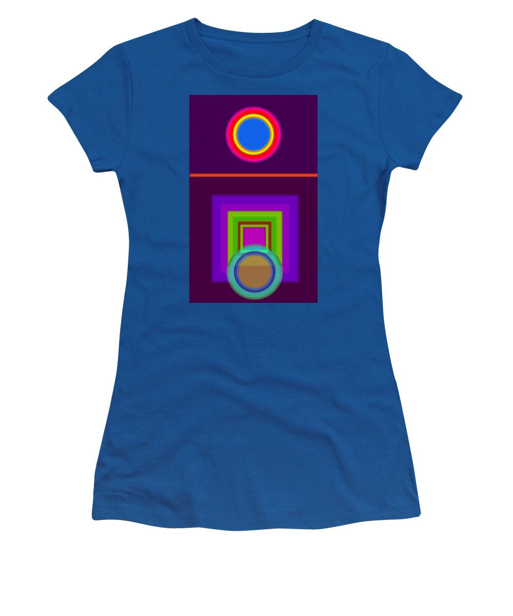 Classical Women's T-Shirt featuring the painting Neo-classical Cart by Charles Stuart