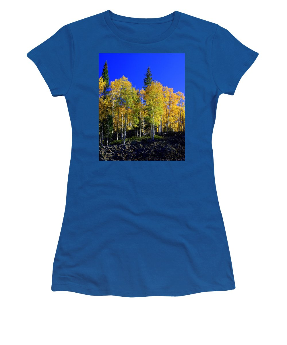 Fall Colors Women's T-Shirt (Athletic Fit) featuring the photograph Nevada Fall by Marty Koch