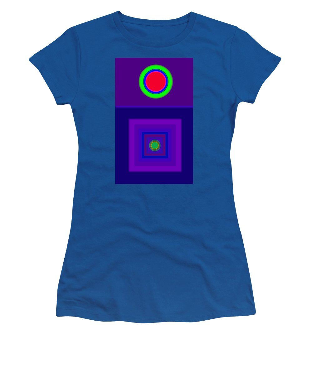 Classical Women's T-Shirt featuring the digital art New Violet by Charles Stuart
