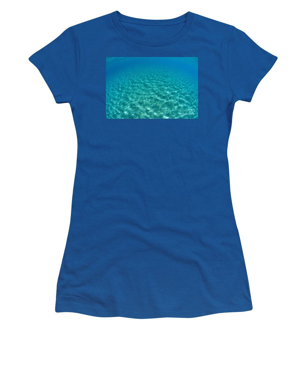 Ali O Neal Women's T-Shirt featuring the photograph Ocean Surface Reflections by Ali ONeal - Printscapes