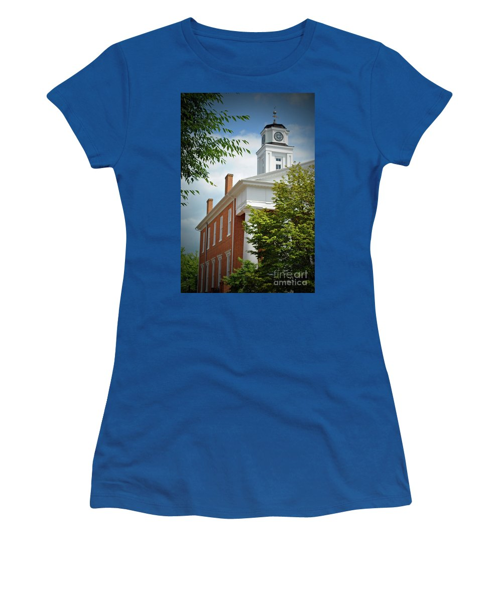 Winchester Women's T-Shirt featuring the photograph Old Court House by Jost Houk