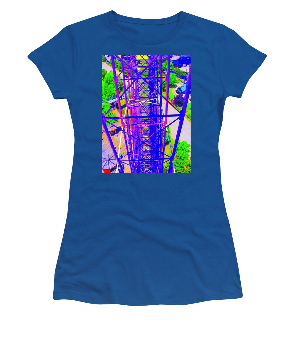 Still Life Women's T-Shirt (Athletic Fit) featuring the photograph On Top Of The World by Ed Smith
