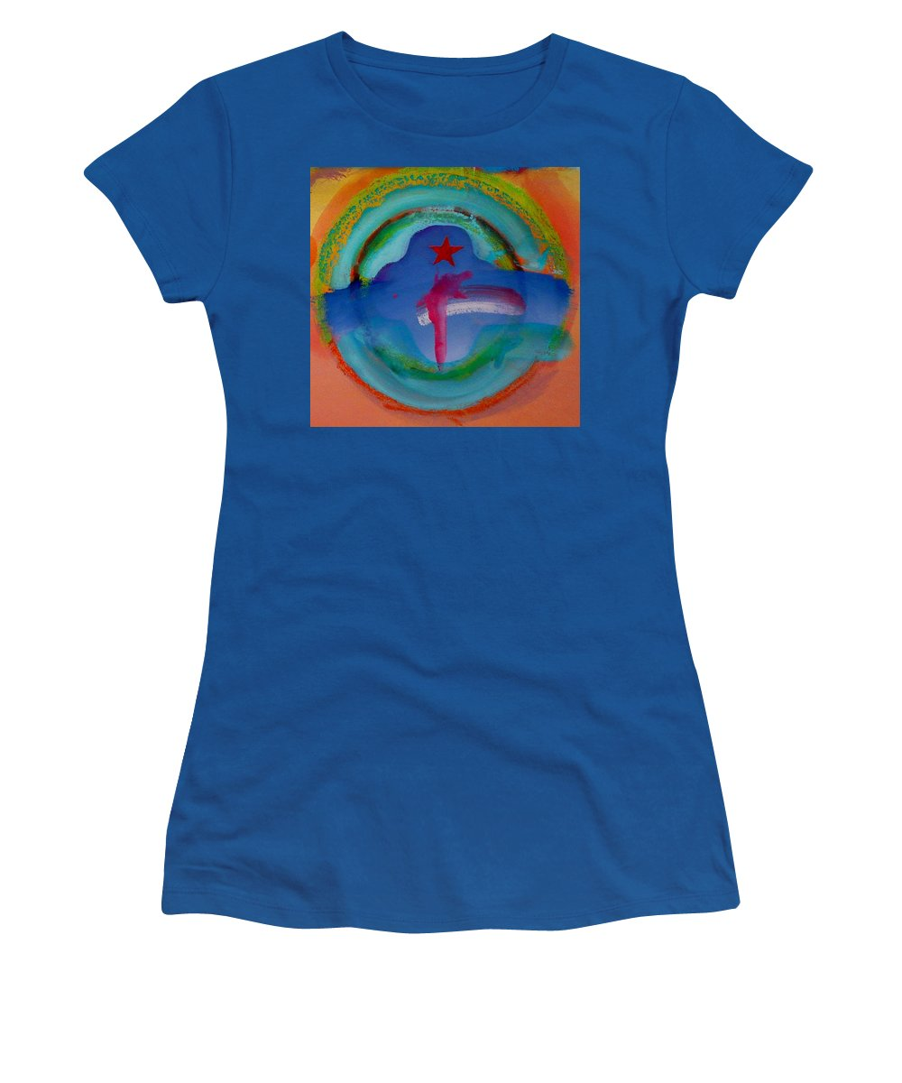 Logo Women's T-Shirt (Athletic Fit) featuring the painting one by Charles Stuart