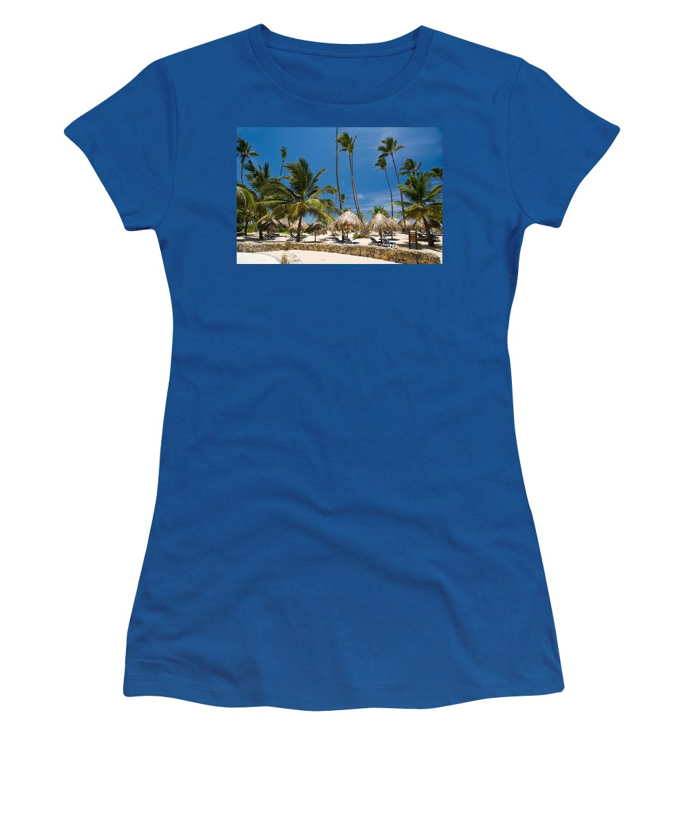 Beach Women's T-Shirt (Athletic Fit) featuring the photograph Paradise Beach by Sebastian Musial