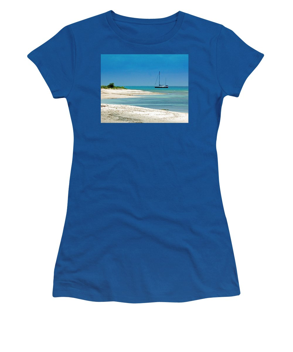 Boat Women's T-Shirt featuring the photograph Paradise Found by Debbi Granruth
