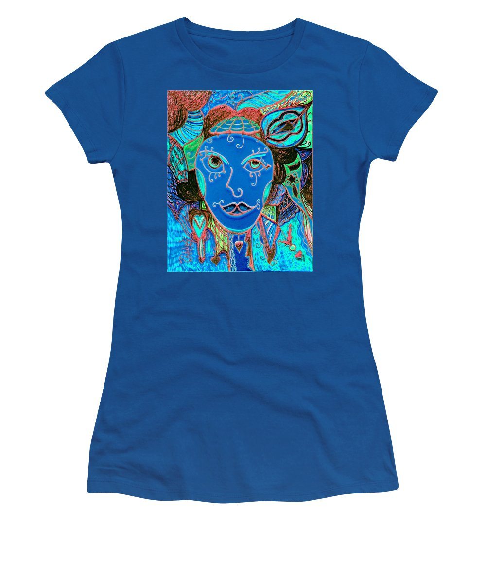 Party Girl Women's T-Shirt (Athletic Fit) featuring the painting Party Girl by Natalie Holland