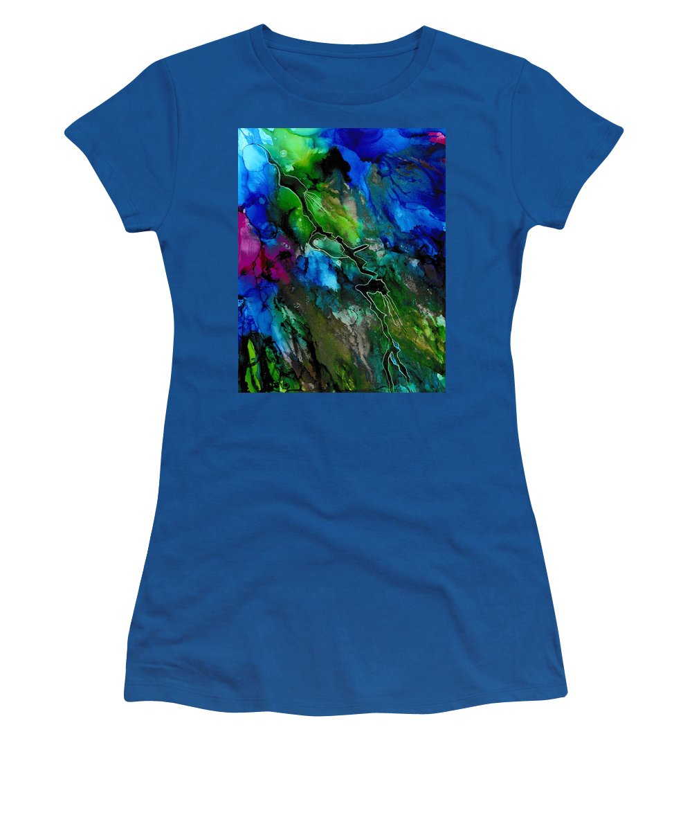 Painting Women's T-Shirt featuring the painting Passing Through by Louise Adams