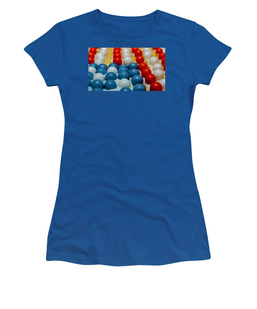 Spheres Women's T-Shirt featuring the photograph Patriotic Spheres by Kevin Gallagher