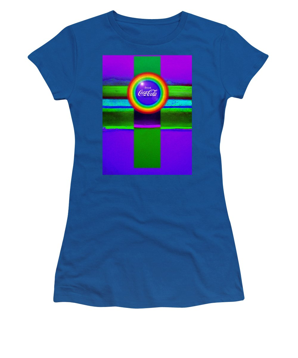 Violet Women's T-Shirt featuring the painting Rainbow by Charles Stuart