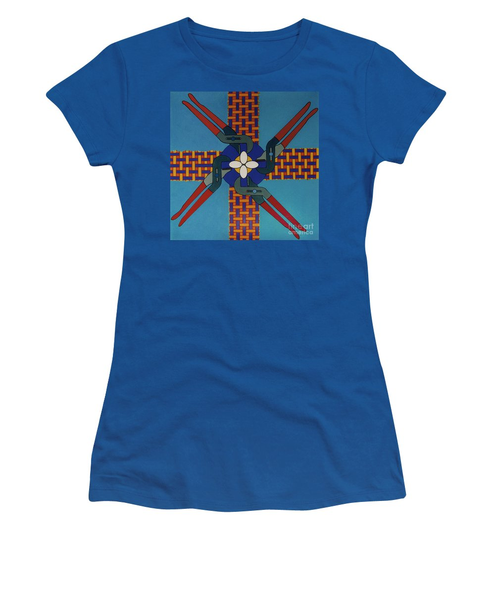 Wrenched Women's T-Shirt featuring the drawing Rfb0918 by Robert F Battles