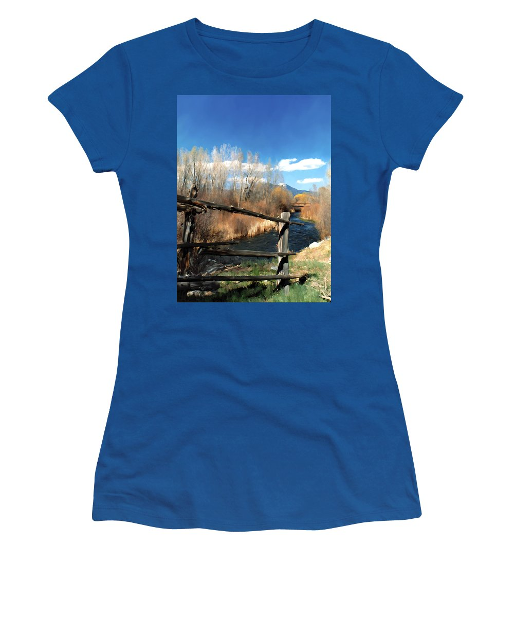 River Women's T-Shirt featuring the photograph Rio Pueblo by Kurt Van Wagner