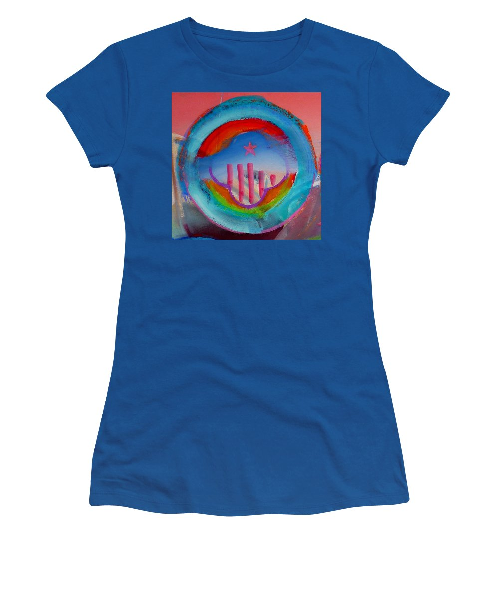 Logo Women's T-Shirt (Athletic Fit) featuring the painting Ship Of State by Charles Stuart