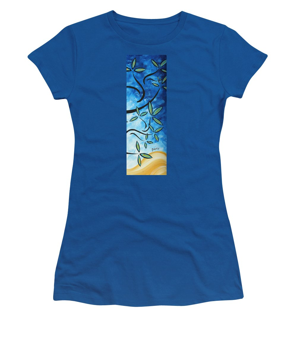 Wall Women's T-Shirt featuring the painting Simply Glorious 4 By Madart by Megan Duncanson