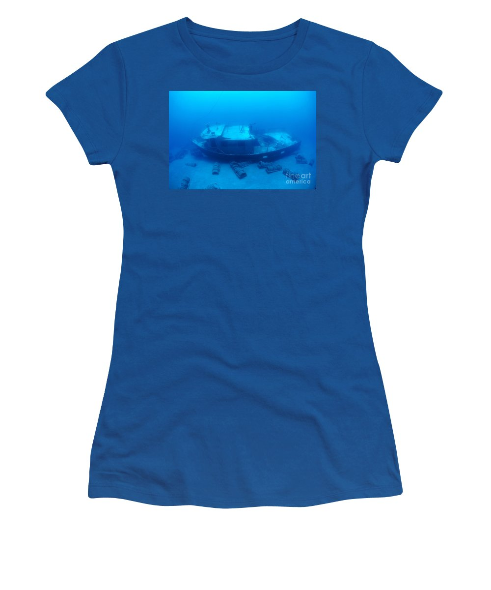 Anthony Women's T-Shirt featuring the photograph St. Anthony Wreck by Dave Fleetham - Printscapes