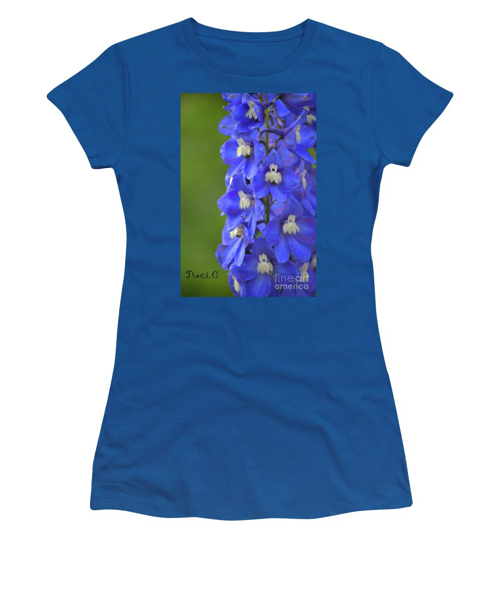Blue Women's T-Shirt featuring the photograph Summertime Blues by Traci Cottingham