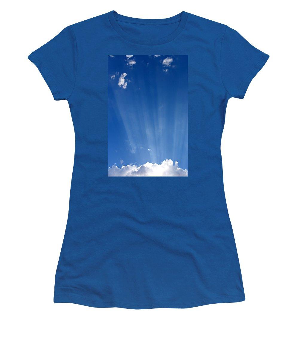 Sun Ray Women's T-Shirt featuring the photograph Sun Ray's by Scott Sawyer