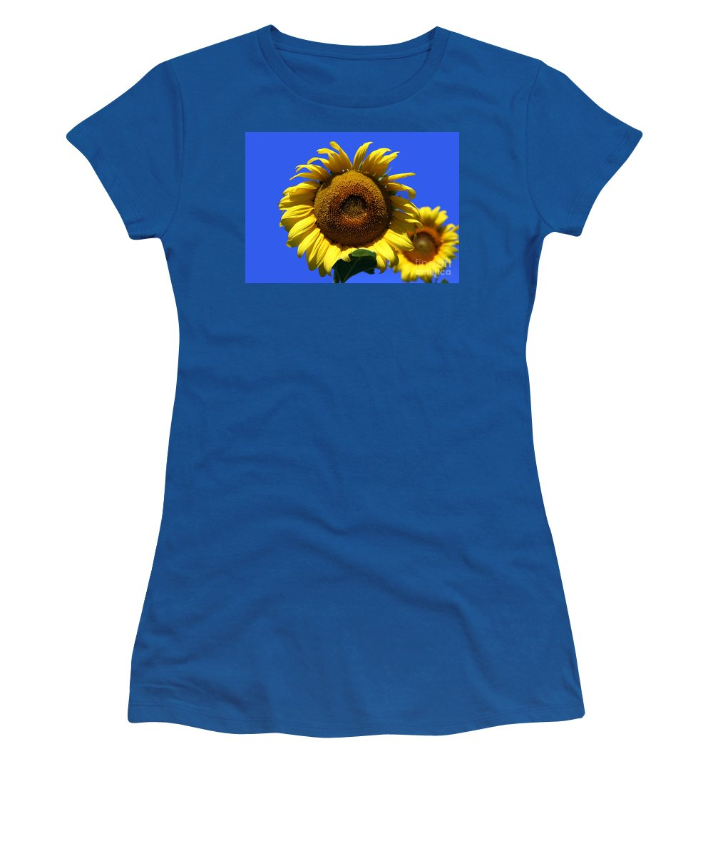Sunflowers Women's T-Shirt featuring the photograph Sunflower Series 09 by Amanda Barcon