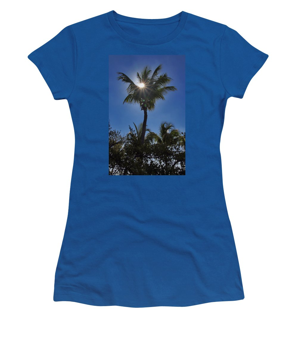 Nature Women's T-Shirt (Athletic Fit) featuring the photograph Sunny Palm by Bob Slitzan