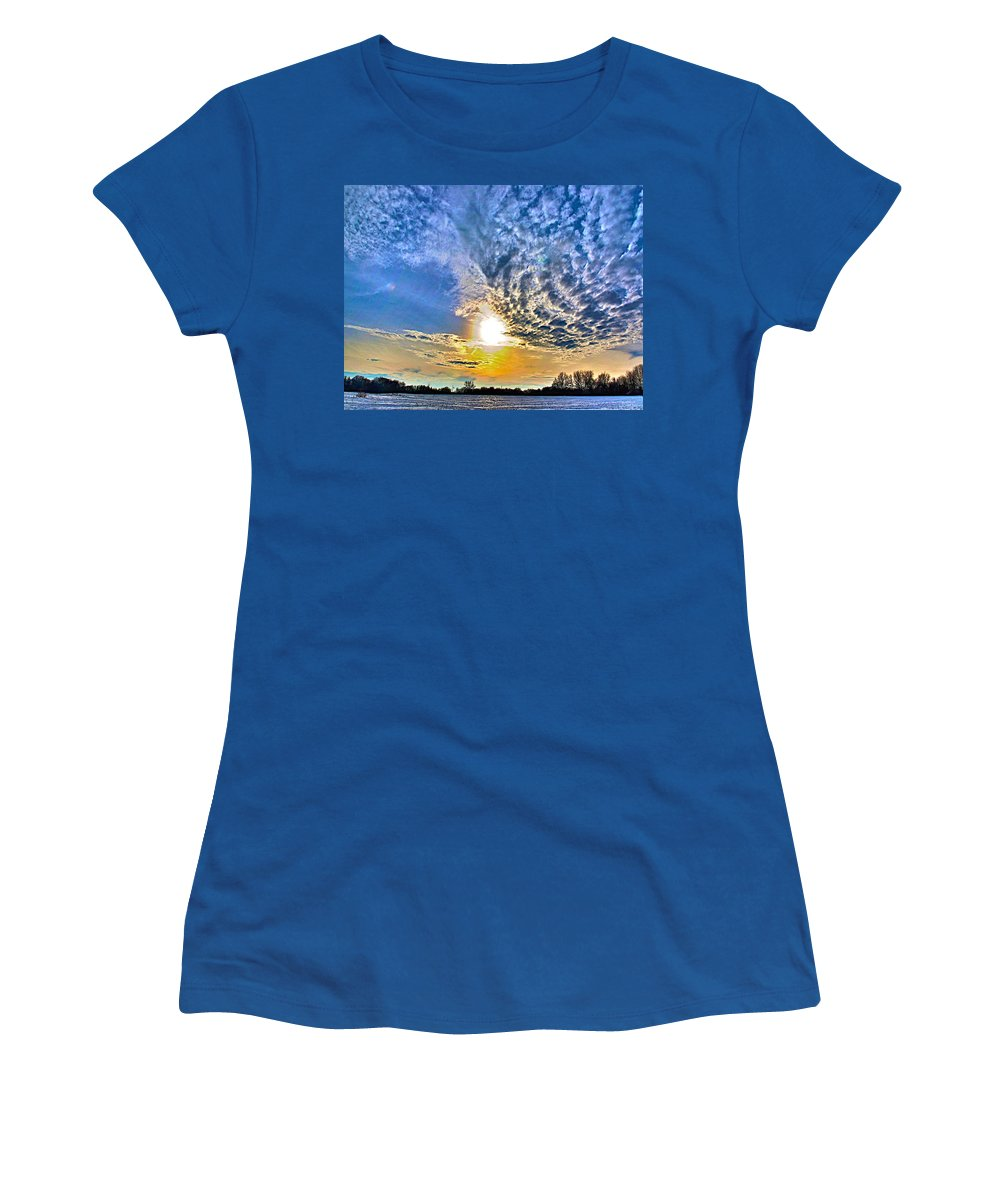 Related Tags: Hdr Artwork Women's T-Shirt featuring the photograph The End Of The Day by Robert Pearson