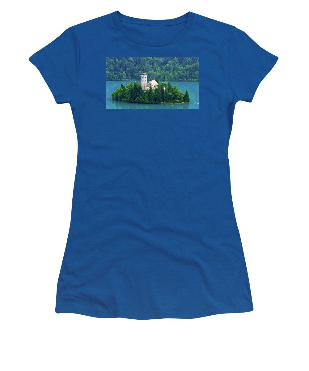 Island Women's T-Shirt featuring the photograph The Island by Daniel Csoka