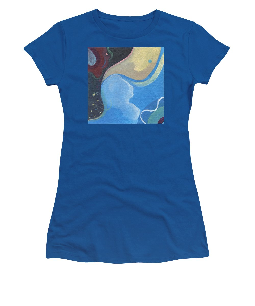 Cosmic Women's T-Shirt featuring the painting The Joy Of Design X X X by Helena Tiainen