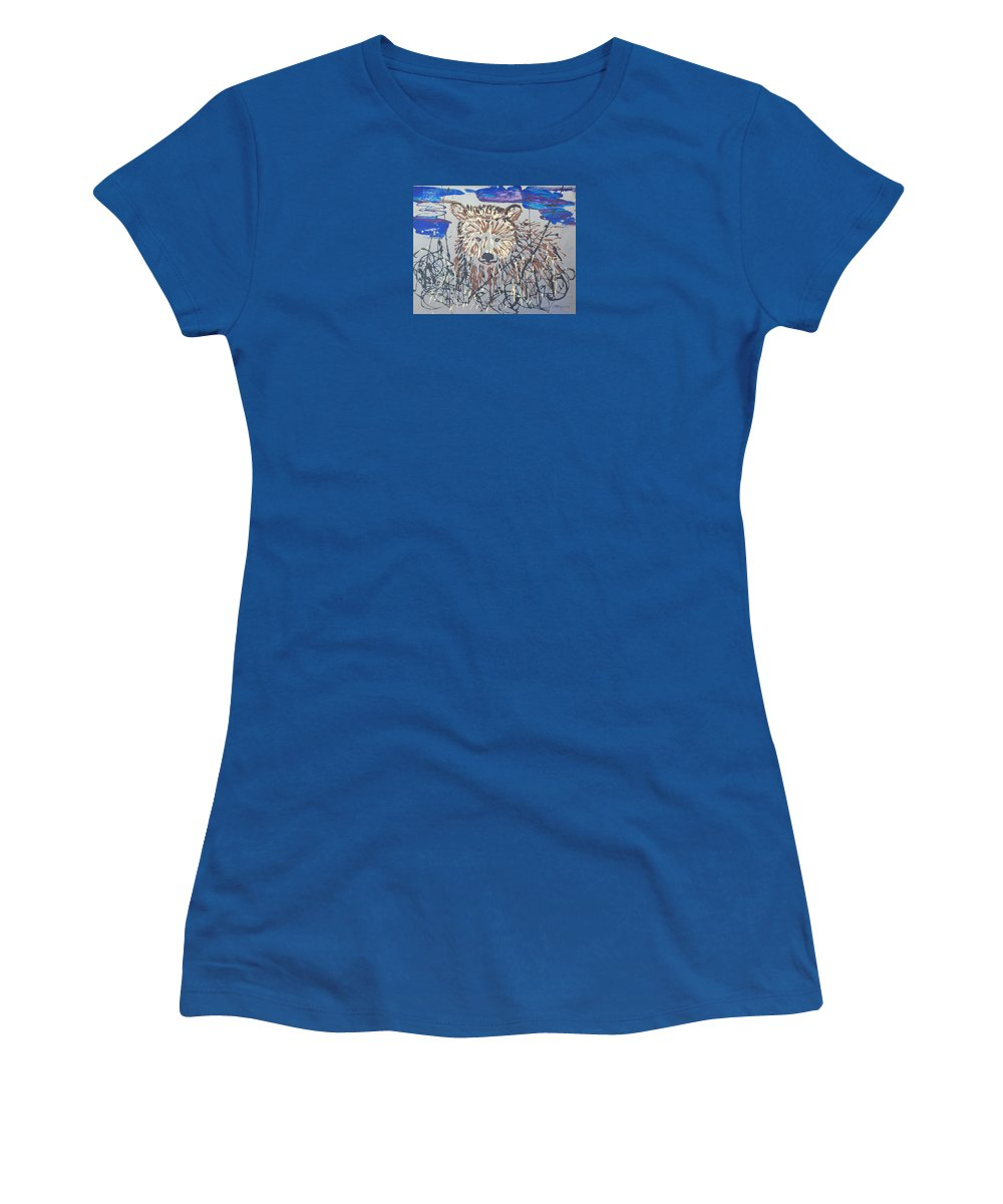 Abstract/impressionist Painting Women's T-Shirt featuring the painting The Kodiak by J R Seymour