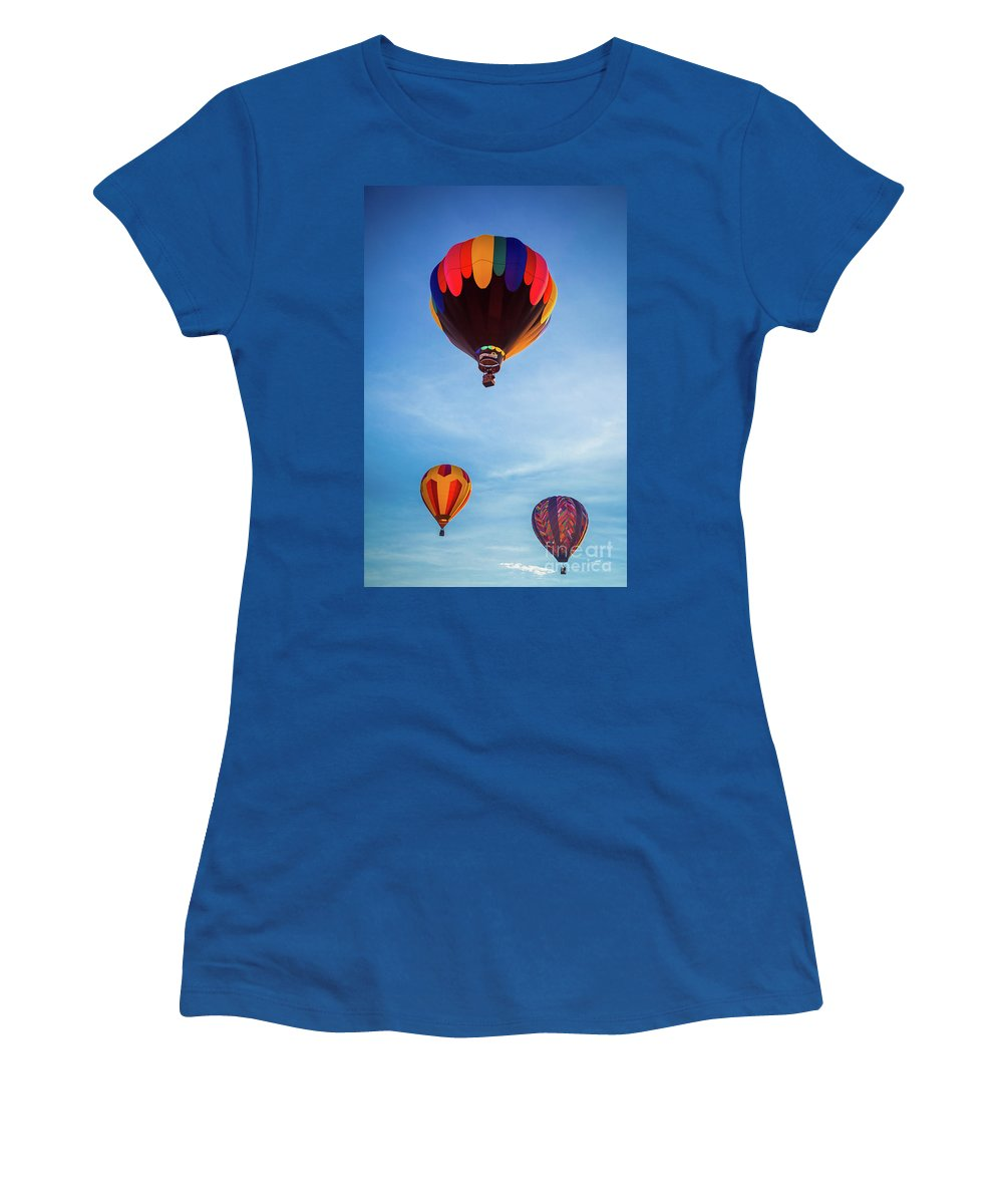 America Women's T-Shirt (Athletic Fit) featuring the photograph Three Balloons by Inge Johnsson