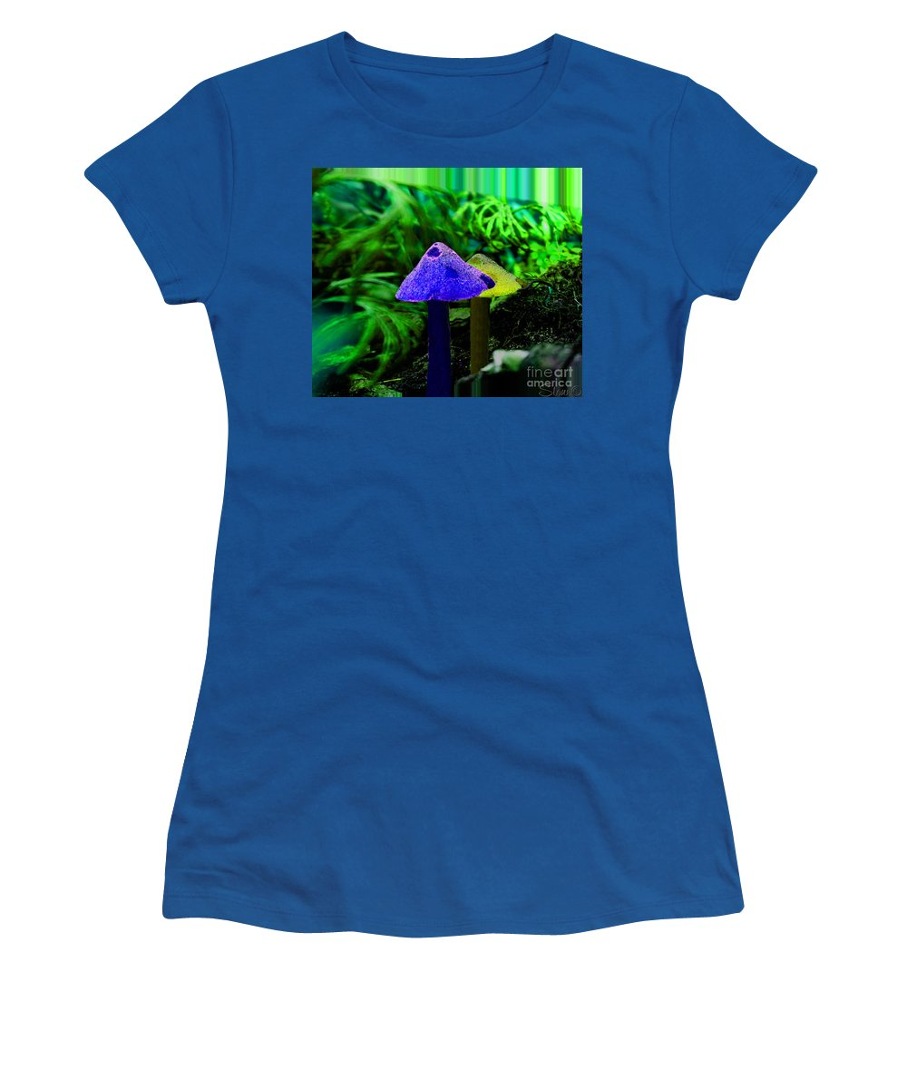 Mushroom Women's T-Shirt featuring the photograph Trippy Shroom by September Stone