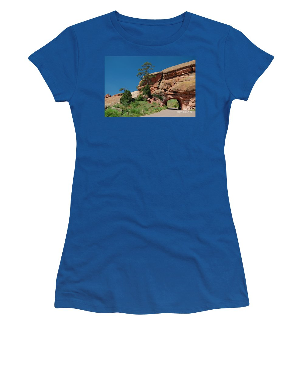 Tunnel Women's T-Shirt featuring the photograph Tunnel by Merrimon Crawford