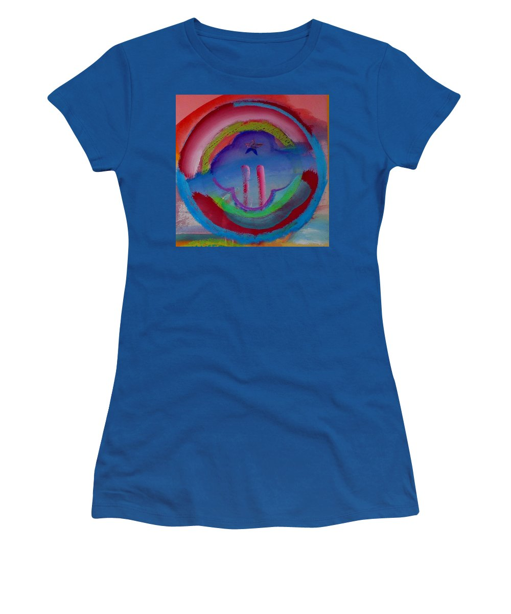 Logo Women's T-Shirt (Athletic Fit) featuring the painting two by Charles Stuart