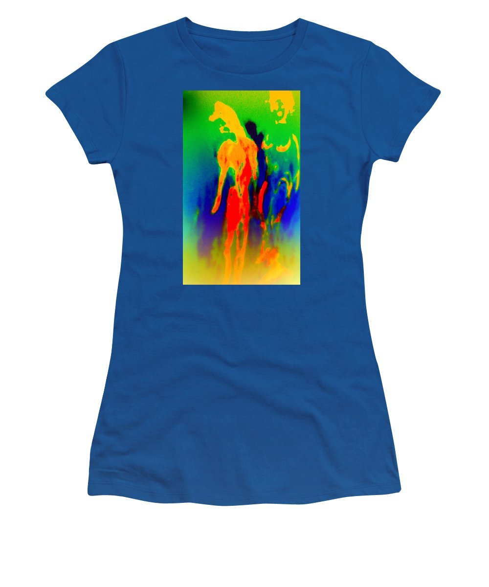 Troll Women's T-Shirt featuring the painting It Doesn't Have To Be Ugly To Be Art But It Is Surely Helpful by Hilde Widerberg