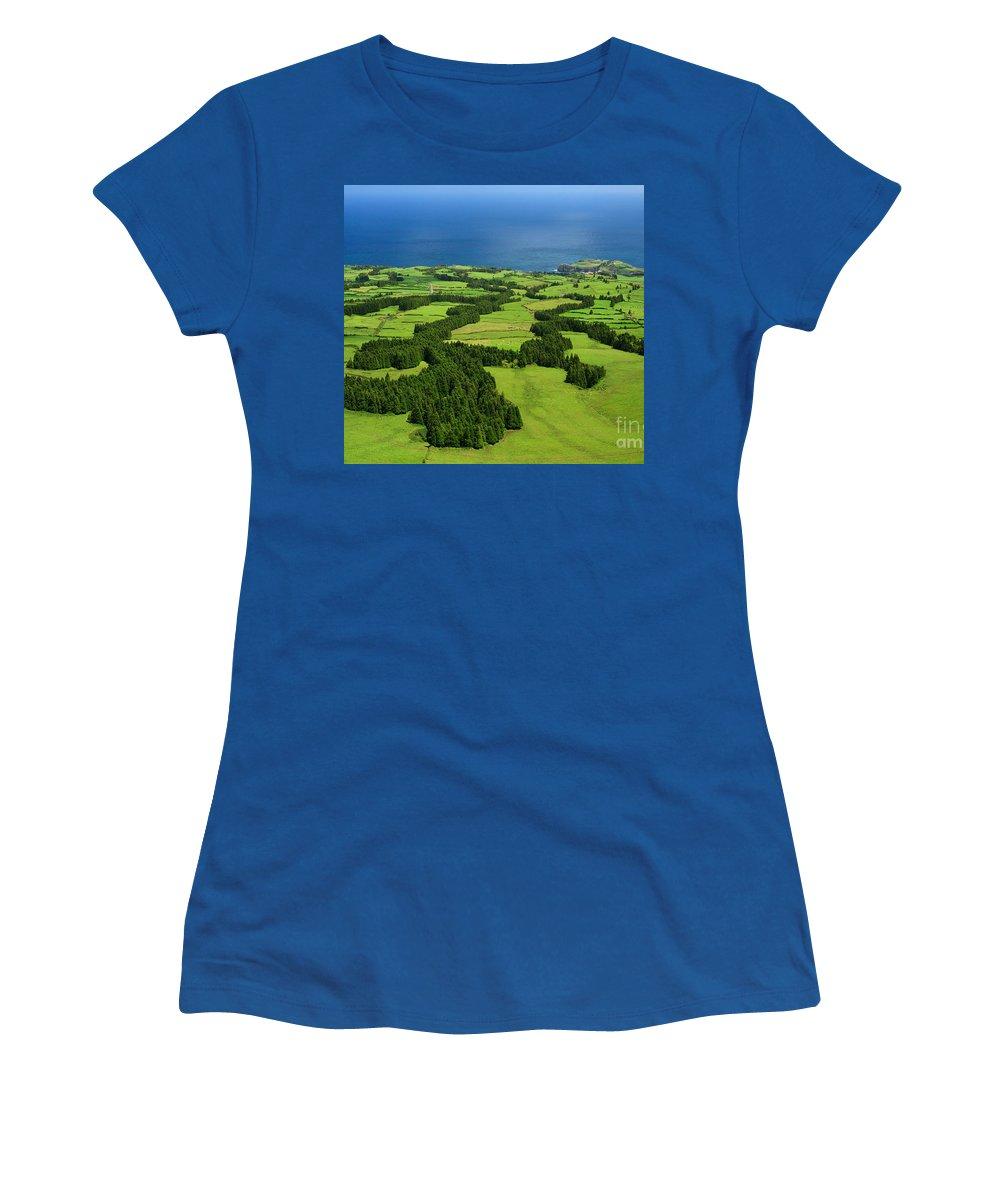 Landscape Women's T-Shirt (Athletic Fit) featuring the photograph Typical Azores Islands Landscape by Gaspar Avila