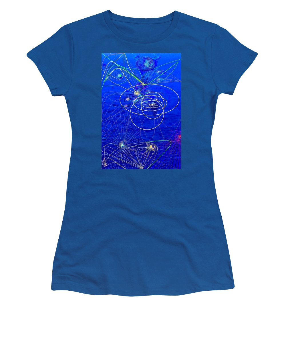 Abstract Women's T-Shirt (Athletic Fit) featuring the digital art Voyage by Ian MacDonald