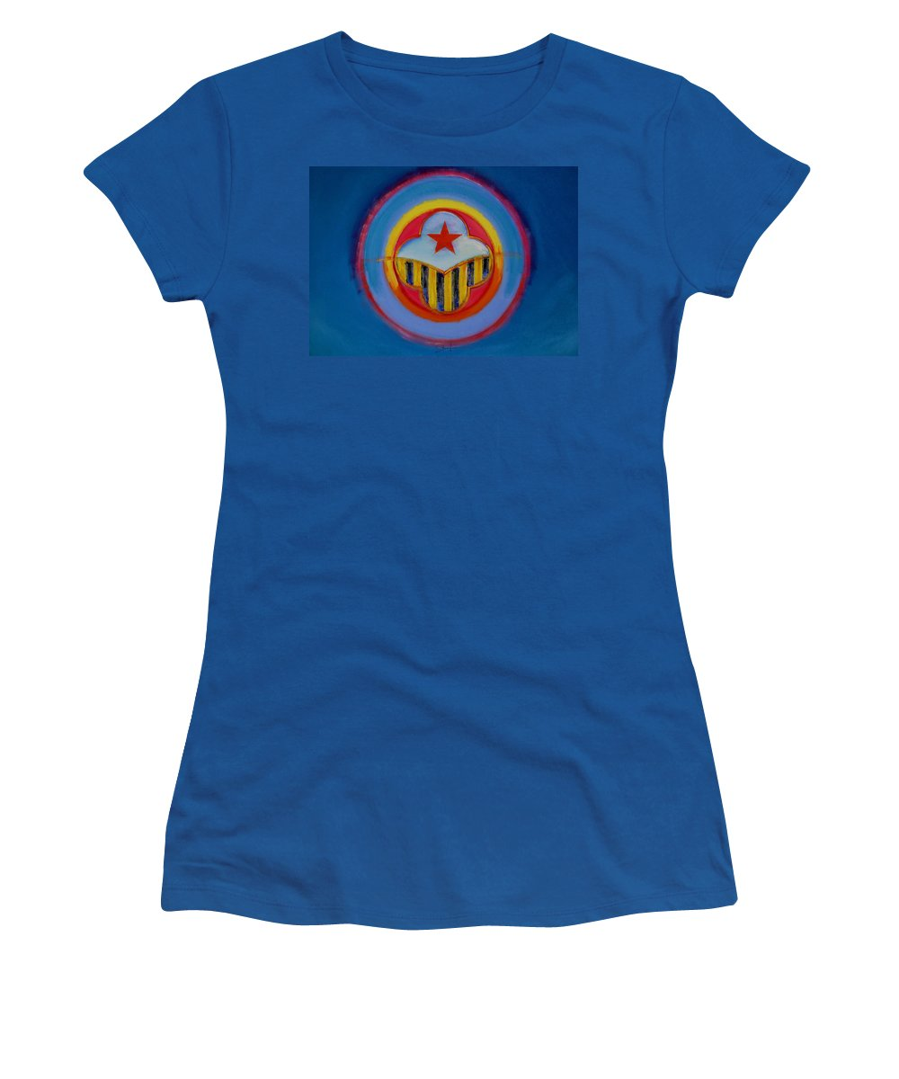Button Women's T-Shirt (Athletic Fit) featuring the painting Wasp by Charles Stuart