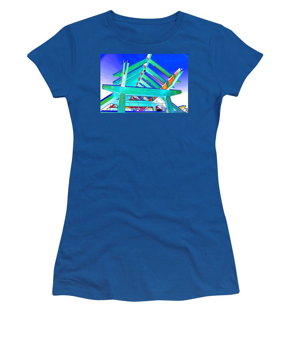 Whistler Conference Centre Women's T-Shirt (Athletic Fit) featuring the digital art Whistler Conference Centre by Will Borden